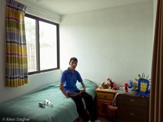 El Arca, Querétaro. Jose in his bedroom at El Arca's community members' house.