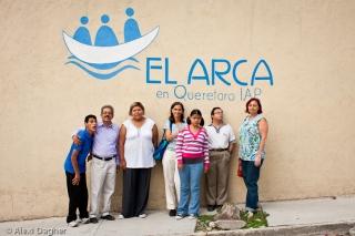El Arca, Querétaro. Group shot in front of El Arca's community members house.