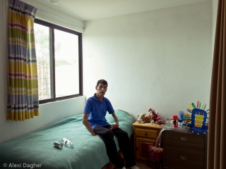 El Arca, Querétaro. Jose in his bedroom at El Arca's community members' house.