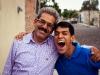 """El Arca, Querétaro . Former El Arca Queretaro director Salvador """"Chavo"""" Delgado with El Arca community member Jose."""
