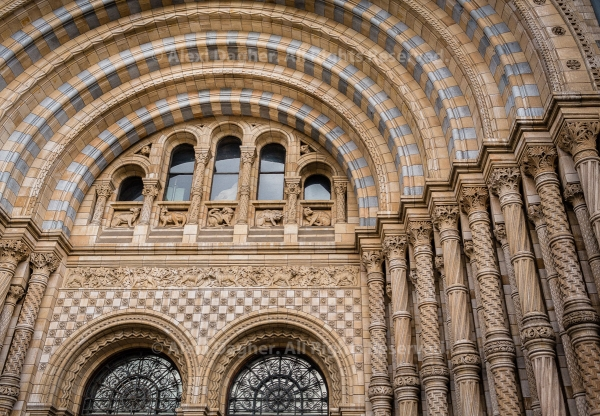 Natural History Museum Front Facade - London, England, 2016