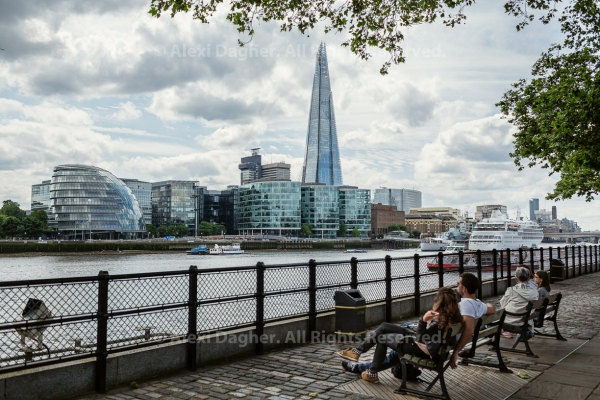 View of the Thames and Southwark, featuring The Shard - London, England, 2016