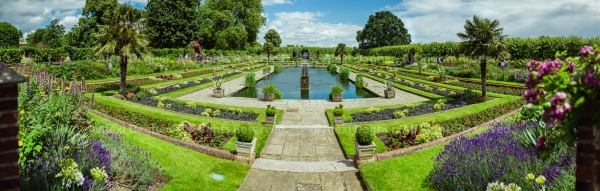 Sunken Garden at Kensington Palace - London, England, 2016